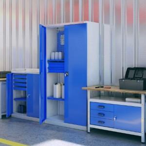 Шкафы производственные для мастерских SWM